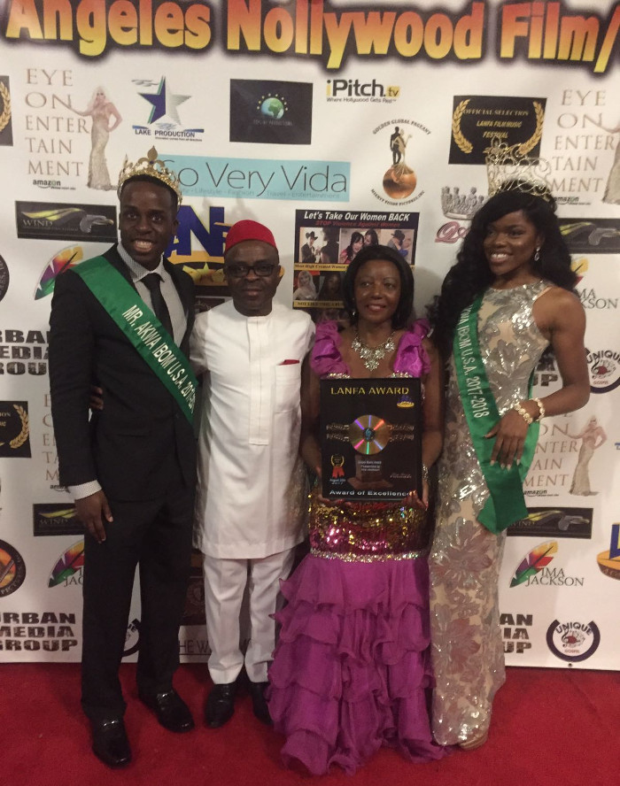 Miss and Mr. AKISAN USA at the 2017 Los Angeles Nollywood Film Awards